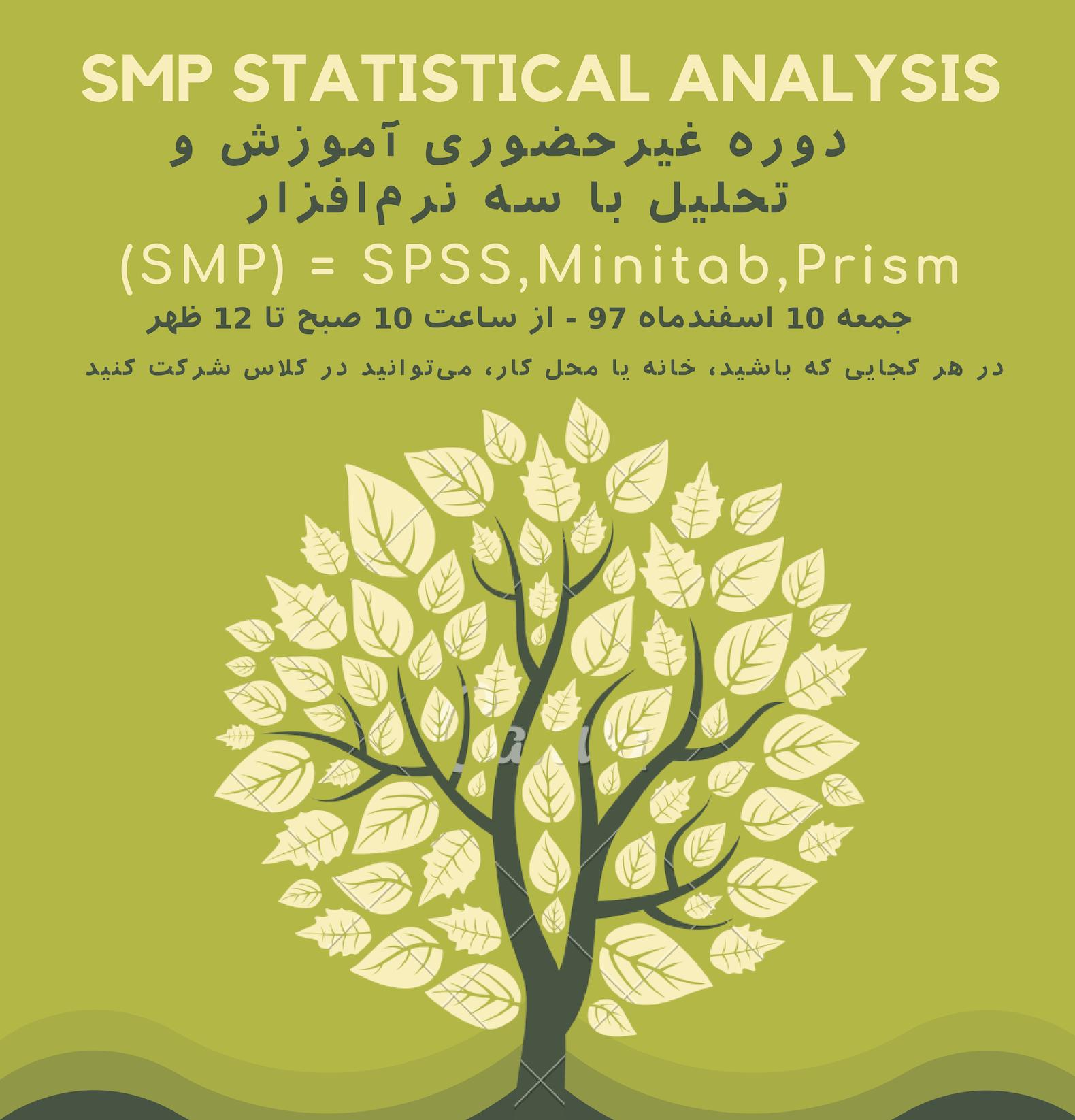 دوره غیرحضوری تحلیل آماری SMP (جمعه 10 اسفند، از خانه شرکت کنید)