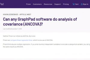 Can any GraphPad software do analysis of covariance ANCOVA GraphPad.ir