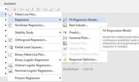 عدم برازش Lack of Fit مدل با استفاده از نرم افزار Minitab