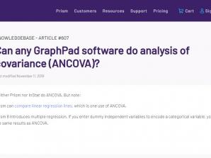 رگرسیون چندگانه GraphPad به جای تحلیل کوواریانس SPSS