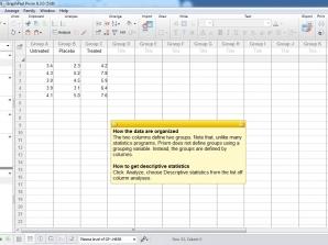 آمارههای توصیفی Descriptive Statistics با گراف پد