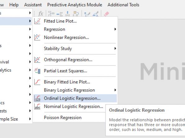 رگرسیون لجستیک ترتیبی Ordinal Logistic Regression در نرمافزار Minitab