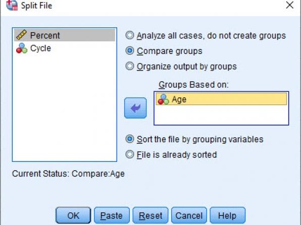 Split File خرد کردن فایل دادهها در SPSS