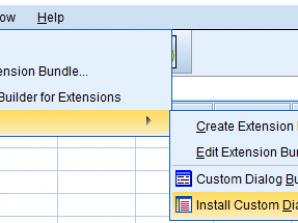 نصب افزونه Extension در نرم افزار SPSS