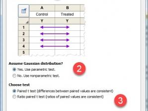 ویدئو. مثال آموزشی T test – Paired با گراف پد